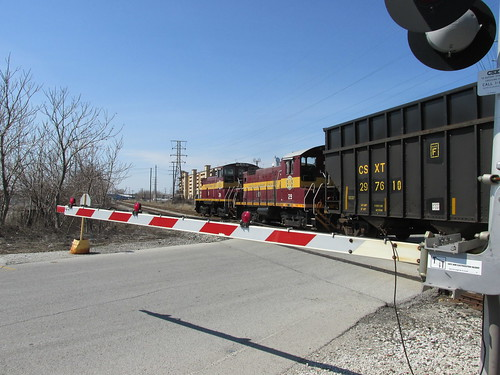 Chicago Short Line Railroad freight train.  Hammond Indiana.  Sunday, April 21st, 2013. by Eddie from Chicago
