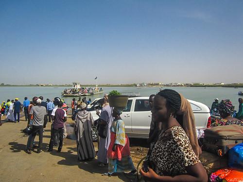Image: La frontière de Rosso côté Sénégal