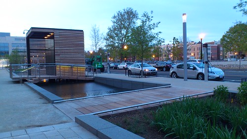 Canal Park's fountain & rain garden