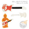 Electric Guitar - White w/ Red Tribal