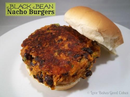 black bean nacho burgers