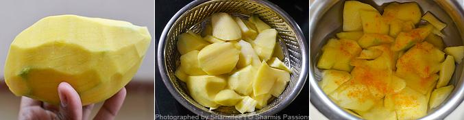 Mango Pachadi Recipe - Step1