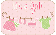 it's a girl tag