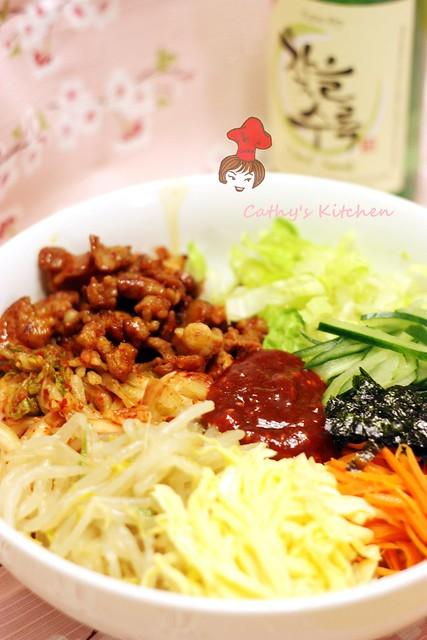 韓式泡菜豬肉拌飯  BiBimBap6