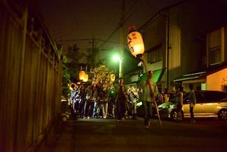 村のお祭り。