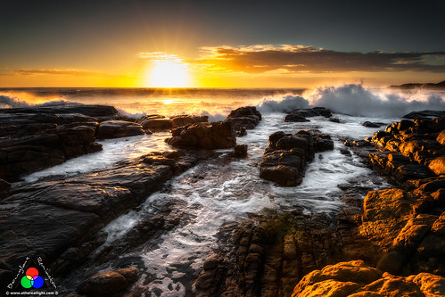 Sunset at the Indian Ocean. Margaret River Western Australia by Douglas Remington - Ethereal Light® Photography