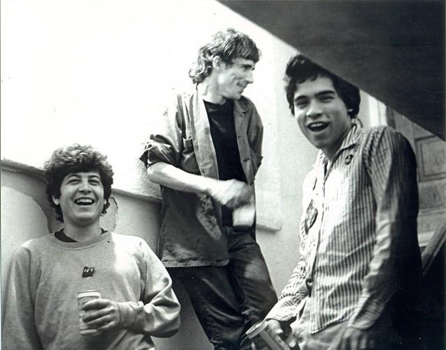 Keith Morris (Black Flag), Joe Nolte (the Last), Ron Reyes (Red cross) @ The Church, Hermosa Beach circa 1979