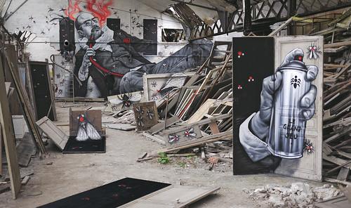 "LE GRAND JEU : ""Doors of perception"" by MTO (Graffiti Street art)"
