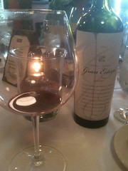 The Gran Estirpe Malbec from Clos de Chacras in Argentina. The glass, the bottle, the magic.