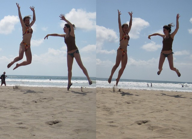 Double leap on Playa Tamarindo