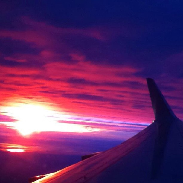 #nofilter #sunset #plane