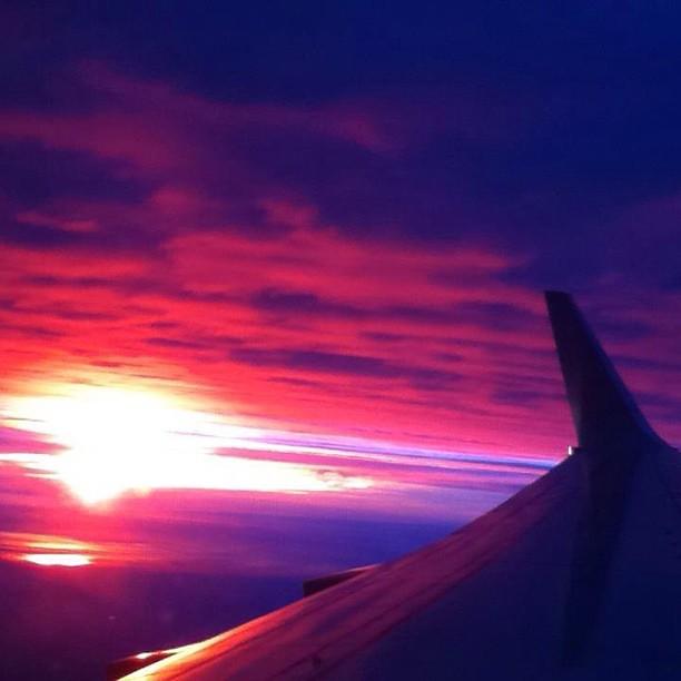 #nofilter #sunset #plane