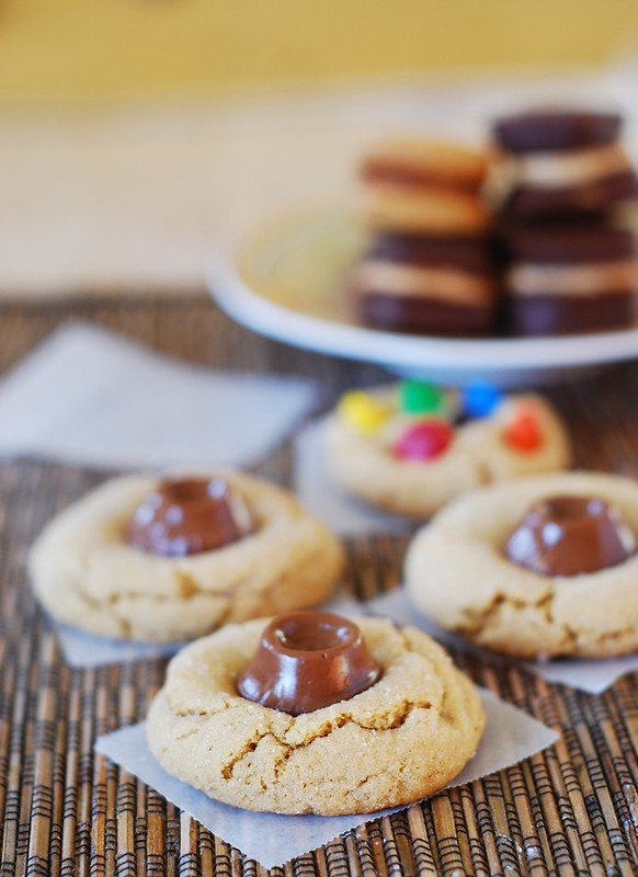 Peanut butter surprise cookies with Rolos, caramel, rolo stuffed peanut butter cookies, chewy caramels in milk chocolate