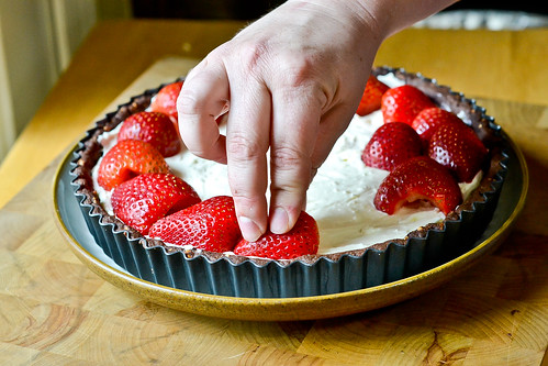 Chocolate-Strawberry Cream Cheese Tart-4