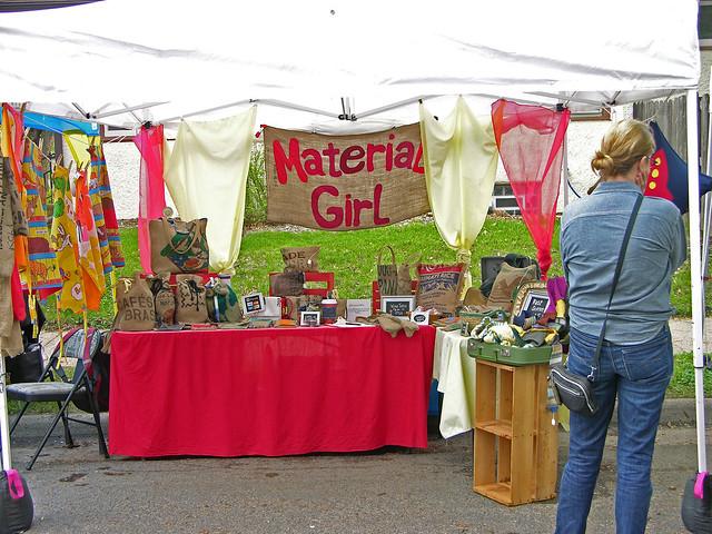 Judson Street Fest 2013 Material Girl booth