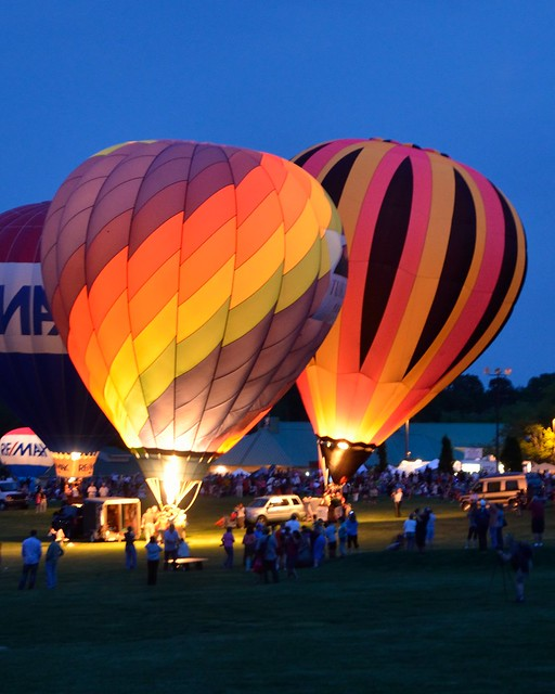 Balloon Glow at Preakness Balloon Festival