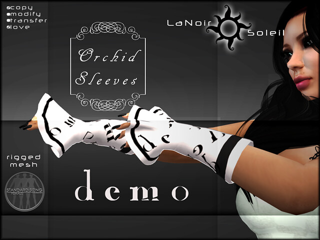 LNS DESIGNS ORCHID SLEEVES DEMO