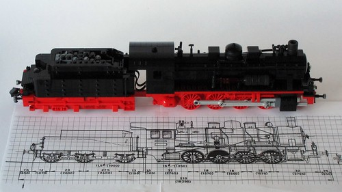 BR 55 with blueprint