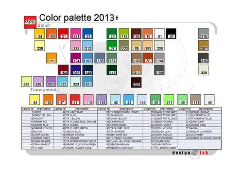 2013 LEGO Color Palette