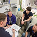 Small photo of Learning about airlock procedures.