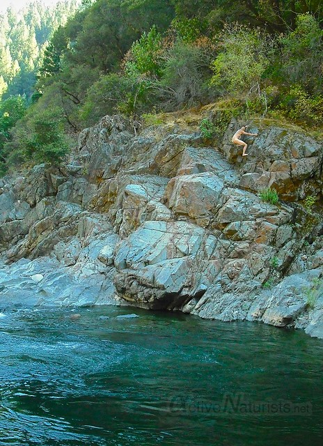 naturist bouldering 0000 South Yuba River, CA, USA