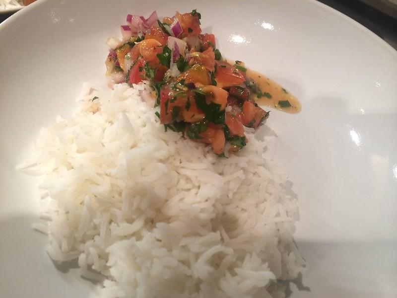 Roast Chicken Crispy Goujons : Plate up the salsa