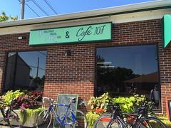 Cafe 107 with 3 Pinarellos