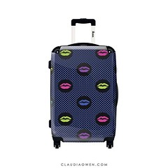 With a suitcase like this you would see your bag on the carousel from a mile away! This is one of the designs I did for @ikaseofficiel @ikase.us #luggage #travel