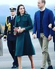 Will and Kate they just go with the flow with ease Kate in her Hobbs trench maple leaf scarf green on green in the Yukon #KateMiddleton #PrinceWilliam #RoyalVisitCanada #whitehorse #yukon #airport #dukeandduchessofcambridge #travel #travelinginstagram #tr