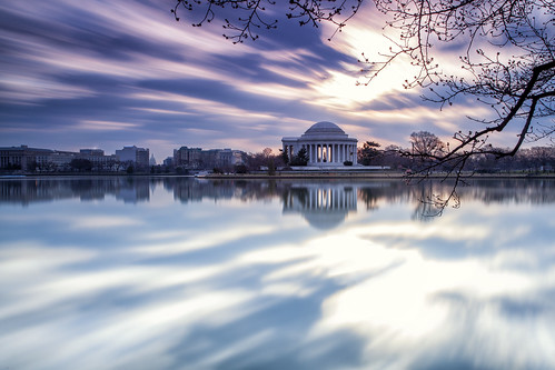 morning sunset sky reflection night clouds washingtondc spring movement cloudy jeffersonmemorial tidalbasin silkysmooth 2013 extremelongexposure leebigstopper singhraydarylbensonrgnd 410seconds stillwaitingfortheblossoms