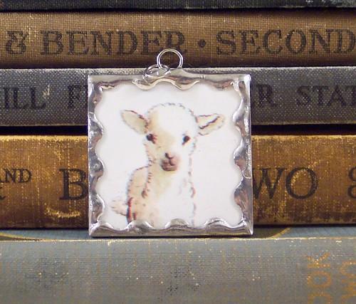 Tasha Tudor Lamb Pendant