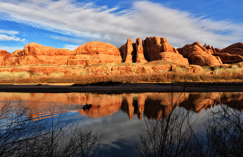 reflection nature water river landscape utah coloradoriver moab lateafternoon potashroad dcpt tpslandscape