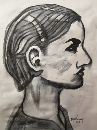 Day 4 sketch after Man Ray portrait of Lee Miller