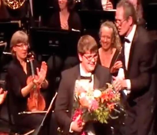 Dane Breitung acknowledging applause - 3:29:2013 w: ACO