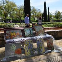 Algunas de las pinturas en el Parque de la Buhaira