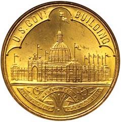 Columbian expo Treasury Dept medal obv