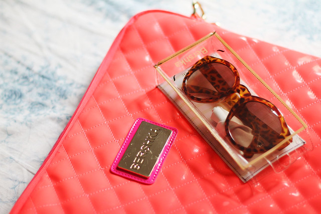 Neon Laptop Bag & Shades from Bershka Hong Kong