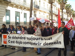 Demo in Montpellier for the workers