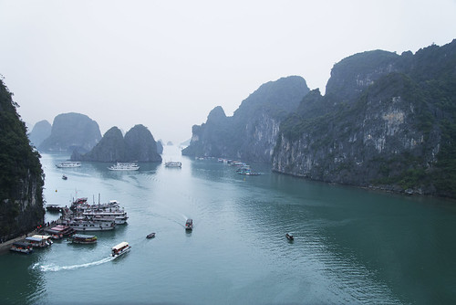 Foggy View of Ha Long Bay