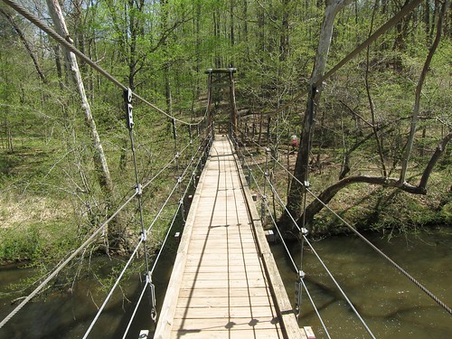 Fews Ford suspension bridge
