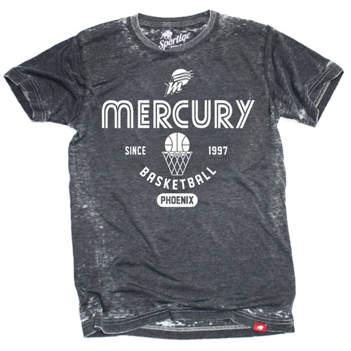PHOENIX MERCURY SPORTIQE NEW GYMNASIUM TEE - BLACK