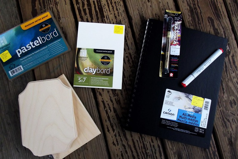 Art Supplies! out of the bag