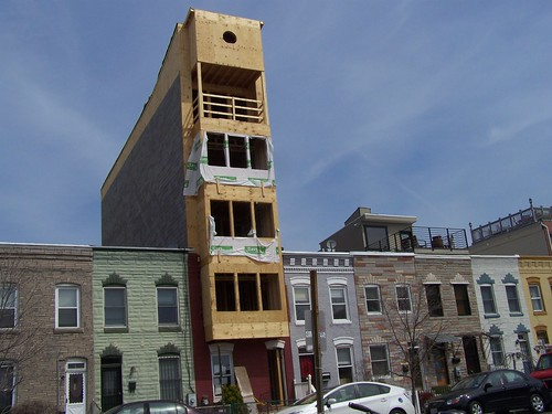 "The so called ""finger"" building on the 1000 block of V Street NW"