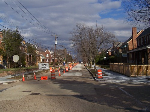 New sidewalks and concrete road repair, Quackenbos St. NW