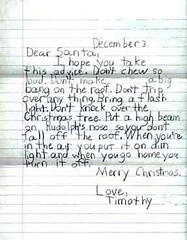 Bossy letter to Santa