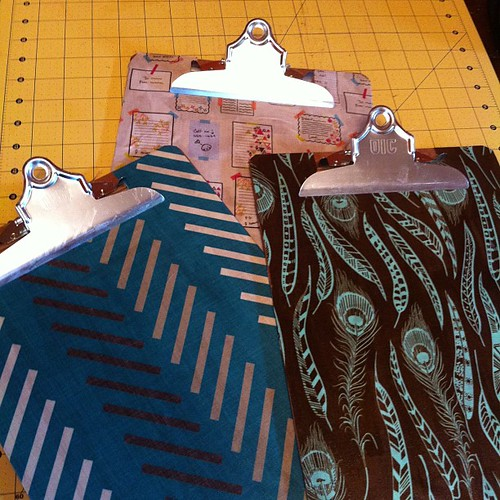 Fabric-covered clip boards!