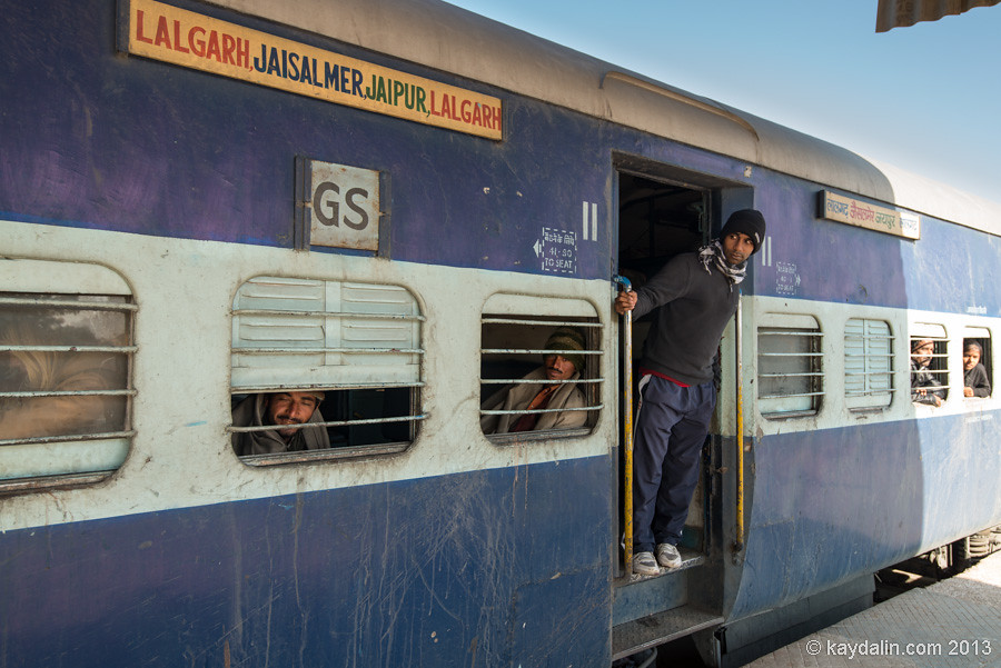india, going from bikaner to jaisalmer by train