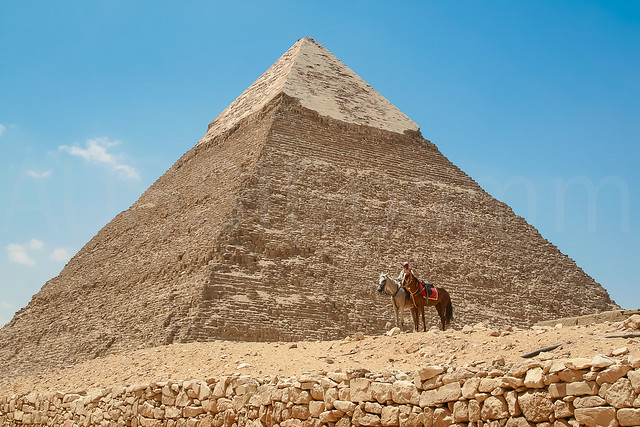Horseman at Pyramid