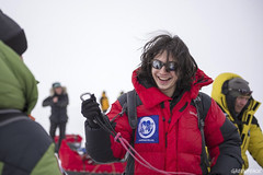 「壁花男孩」演員Ezra Miller參與綠色和平「守護北極」行動。(照片由Christian Aslund/綠色和平提供)