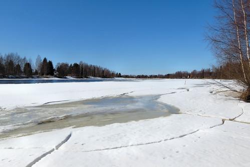 blue sky white snow ice canon finland river landscape frozen powershot hs sx40 blinkagain canonpowershotsx40hs